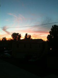Sunset over Burbank