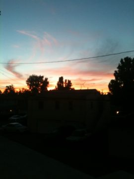 Sunset over Burbank