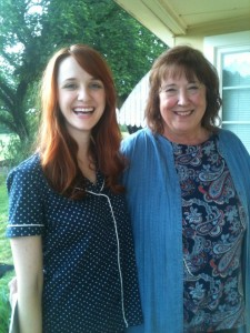 Laura Spencer ( Big Bang Theory) and I on set