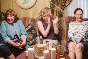 With Eve Gordon and Beth Grant having a great time in one of our scenes in Heartland!